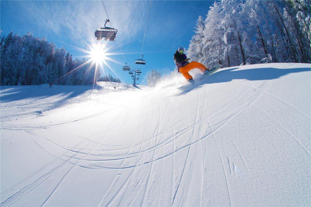 Fashionable ski resort