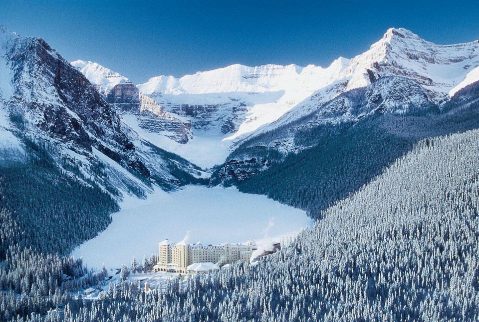 Scenic ski resort